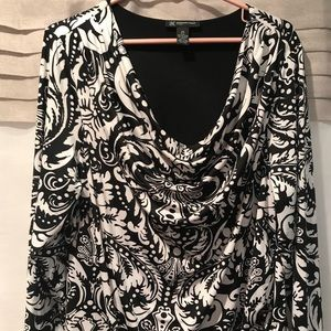 INC International Concepts Black & White Dress
